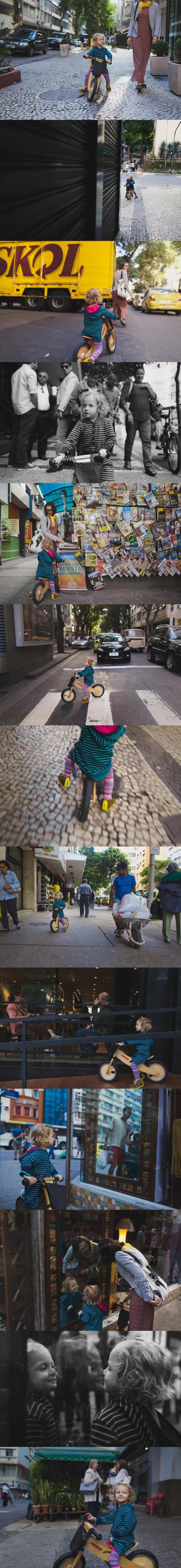 Bike no calçadão